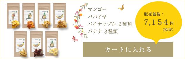 アーユルパロン[マンゴー・パパイヤ・パイナップル2種類・バナナ3種類]