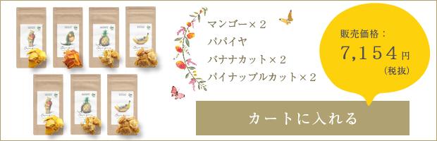 アーユルパロン[マンゴー・パパイヤ・バナナカット2種類・パイナップルカット2種類]